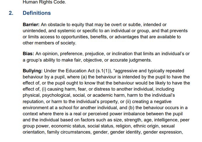 definitions for racist ugdsb 19