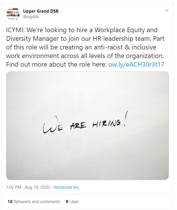 diversity manager racist ugdsb