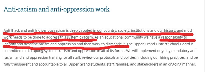 racist upper grand district school board 42